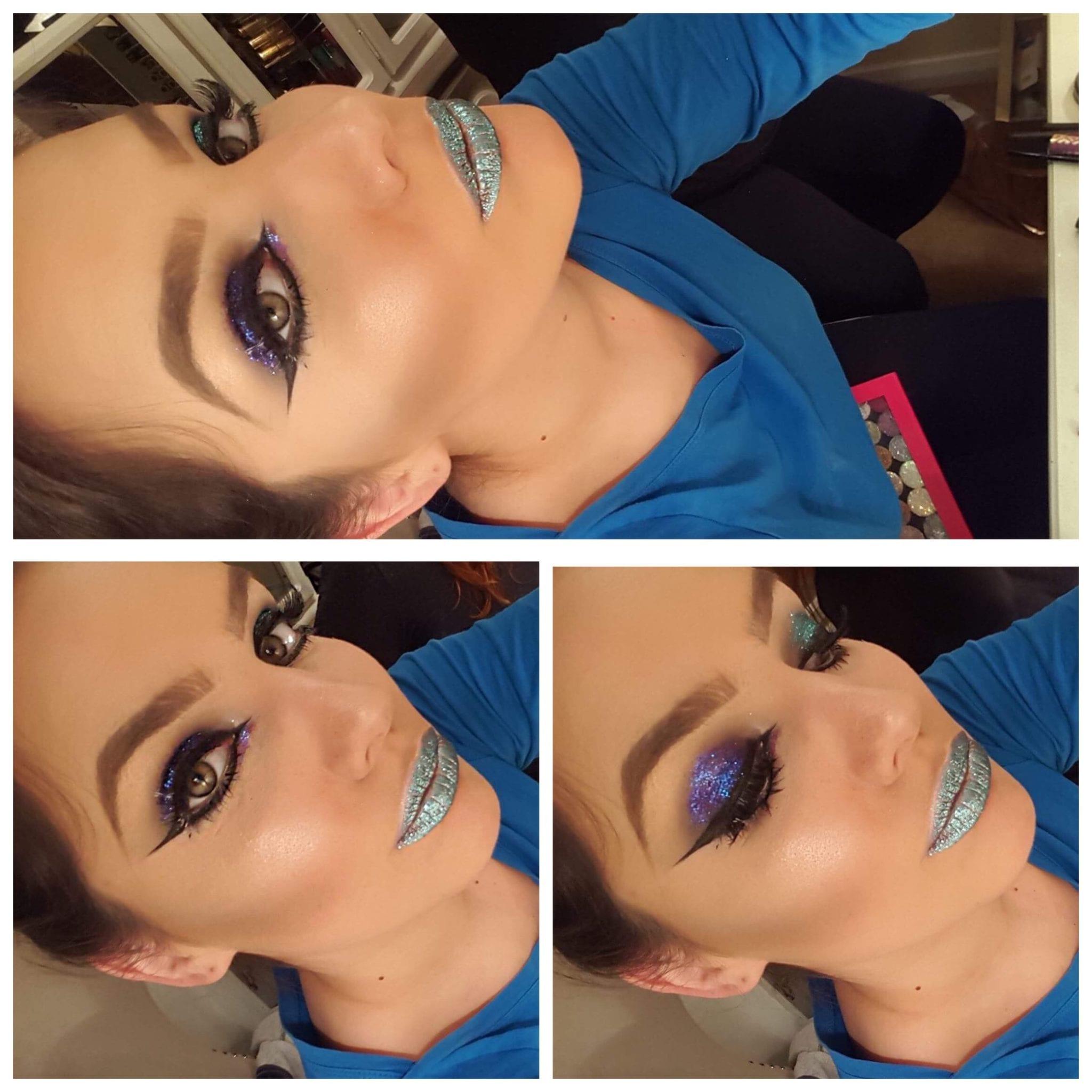 Glitter Glow look: Makeup by Mirna: Makeup artist Hertfordshire