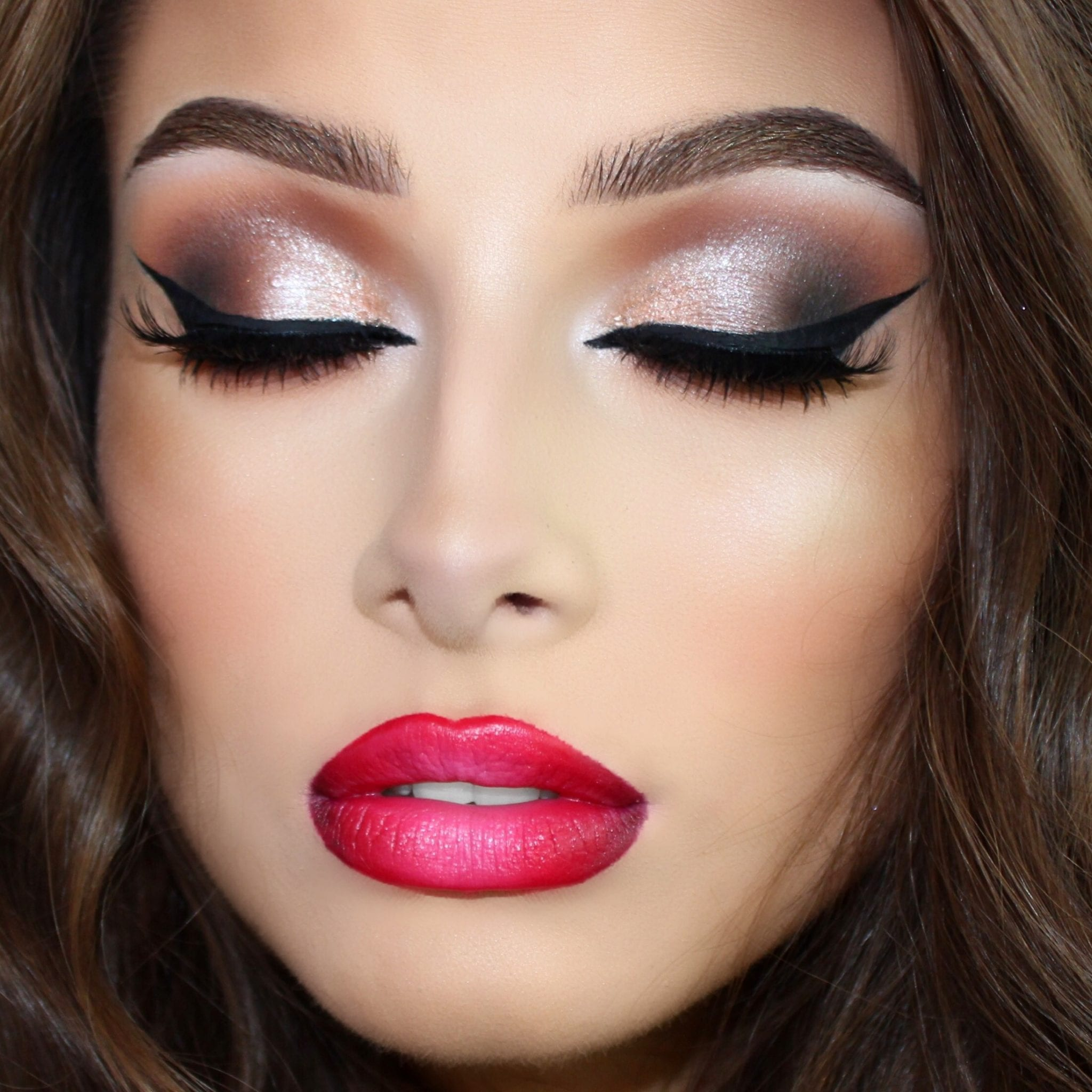 Ombre lips with brown eyes copy